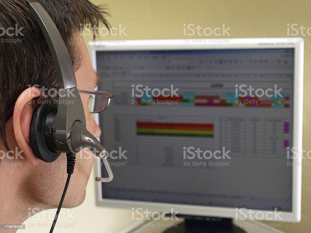 Helpdesk Operator royalty-free stock photo