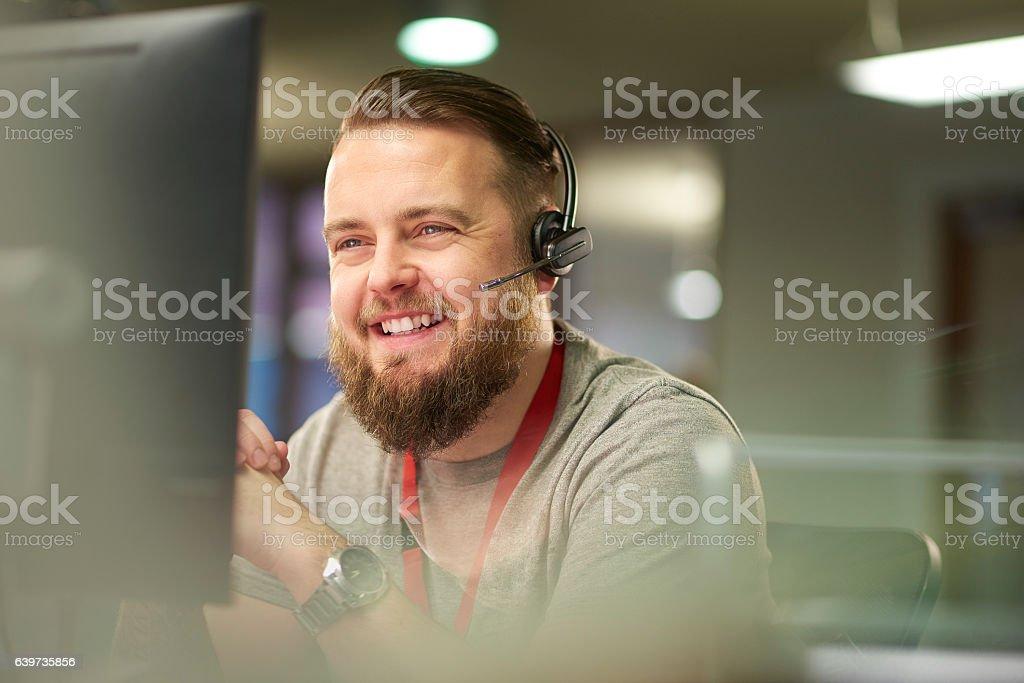 helpful customer service stock photo