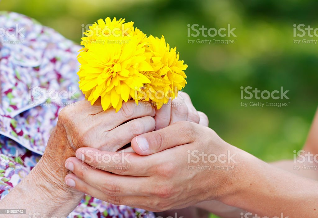Helpful hands stock photo
