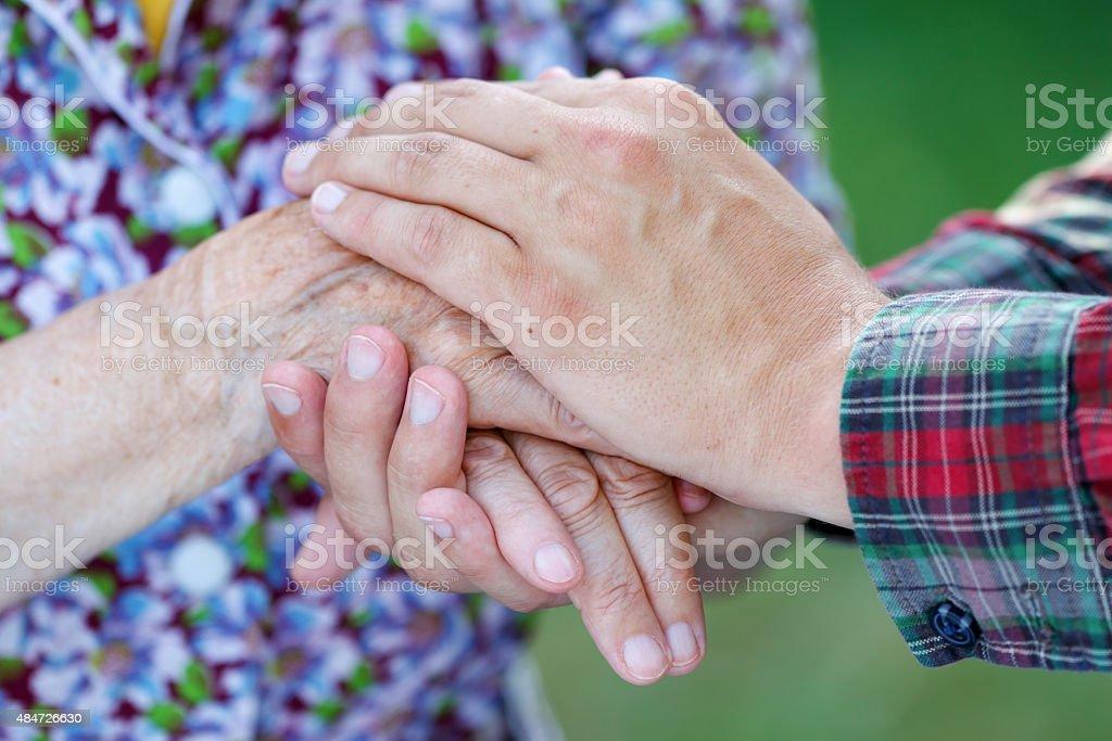 Helpful hands stock photo