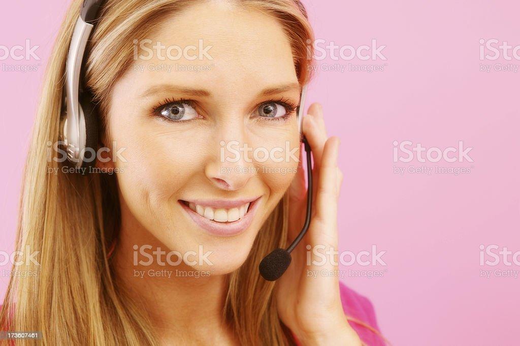 Helpful Pink Beauty stock photo
