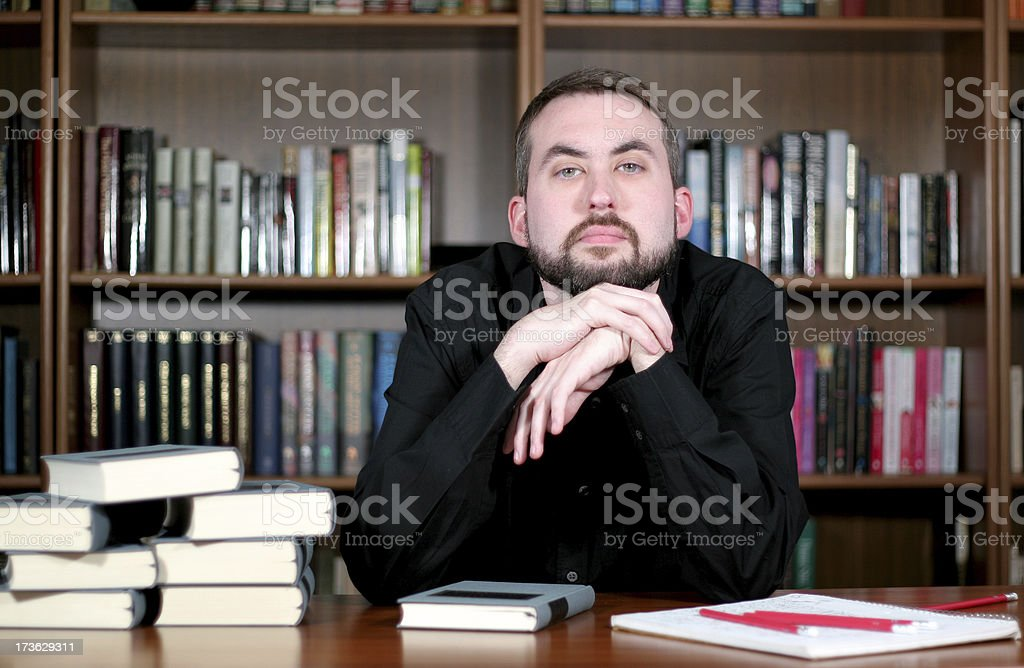 Helpful professor 02. royalty-free stock photo