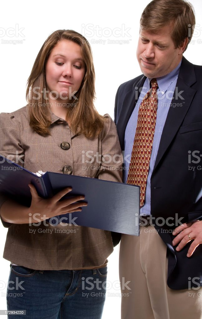 helpful teacher royalty-free stock photo