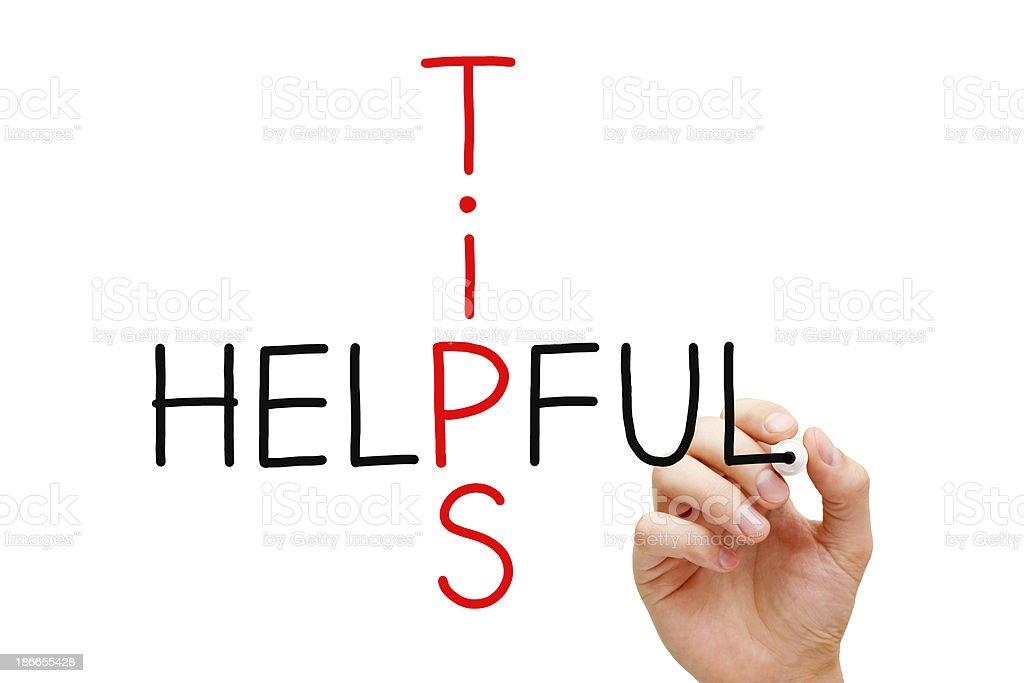 Helpful Tips stock photo