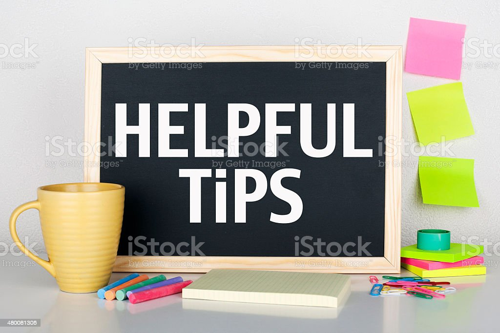 Helpful Tips stock photo