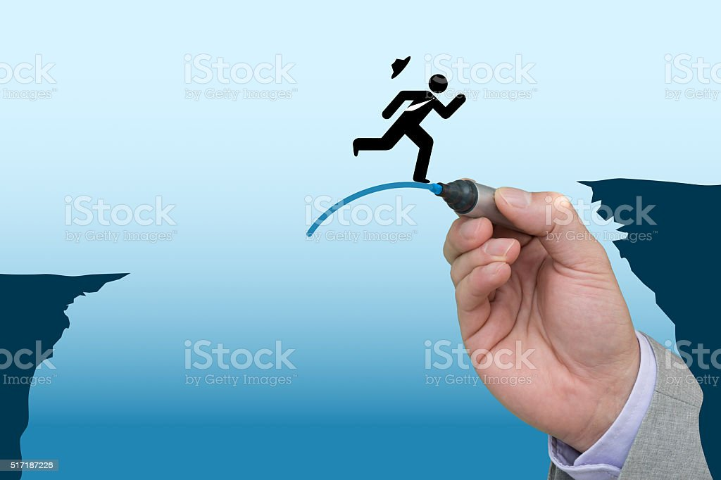 Helping business hand stock photo