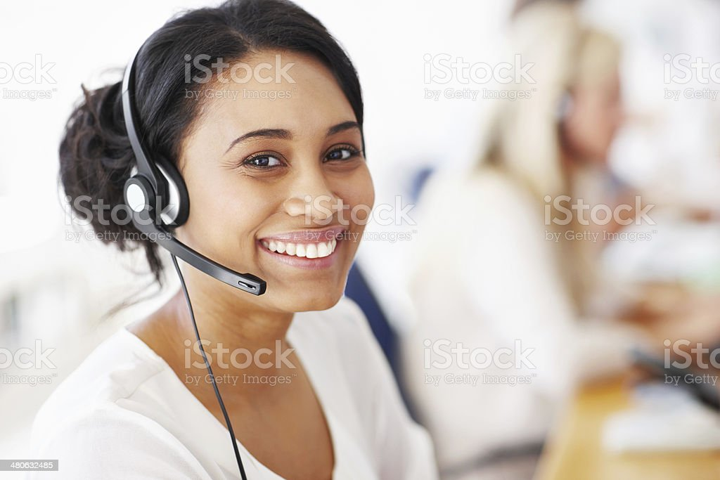 Helping clients is so fulfilling stock photo