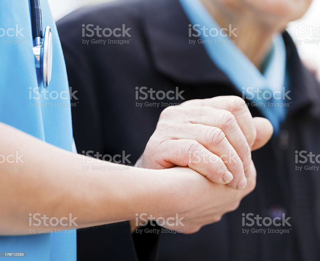 Helping Elderly stock photo