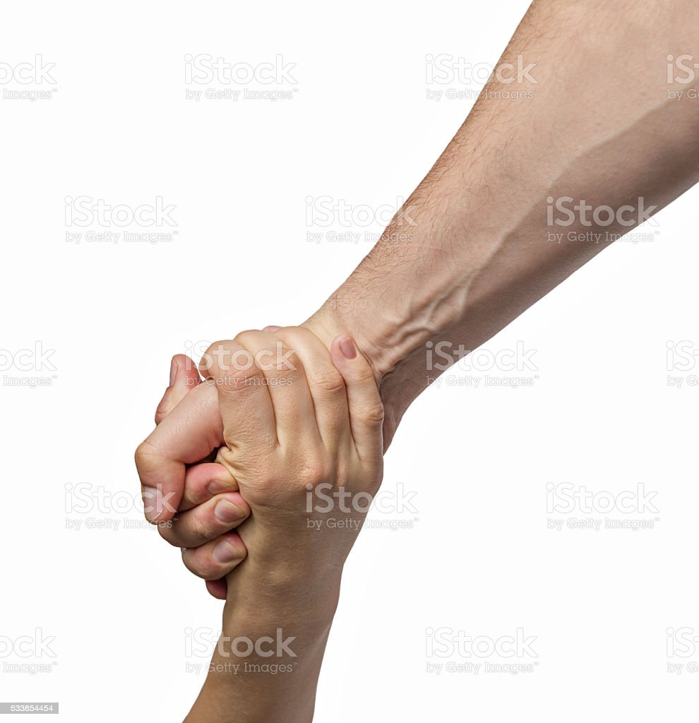 helping hand color stock photo