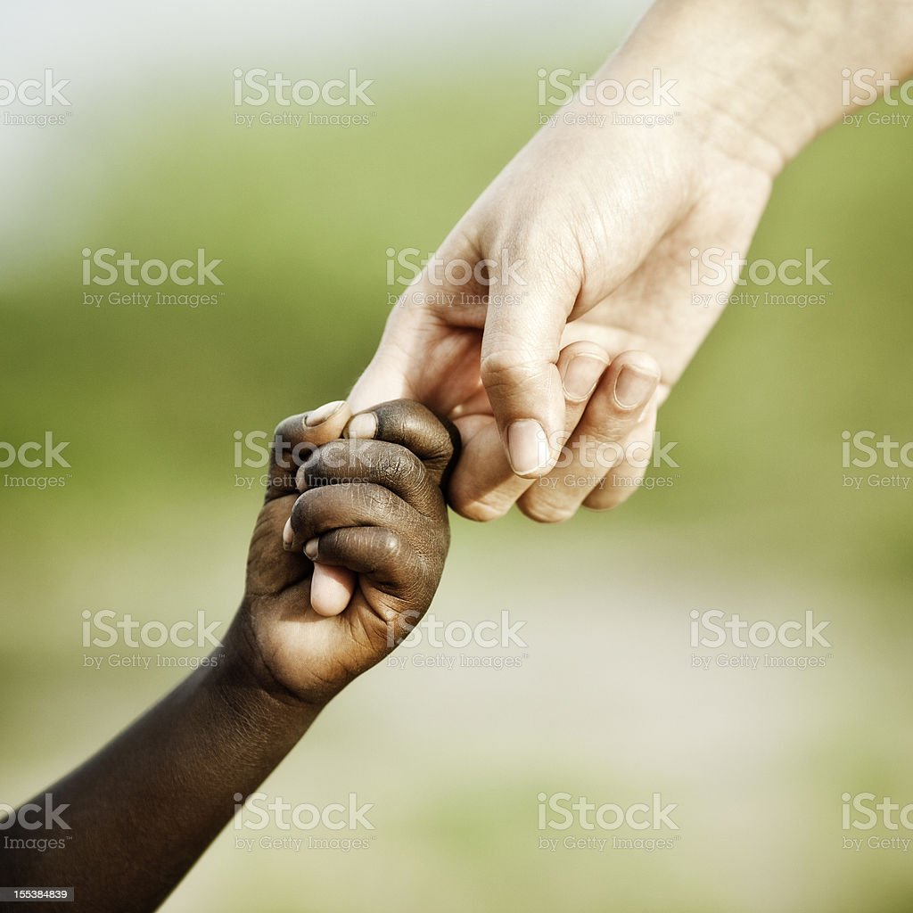 Helping Hand for Africa stock photo