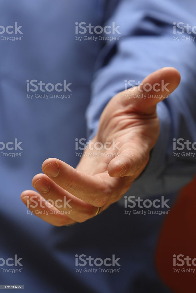 Helping Hand of Leadership stock photo