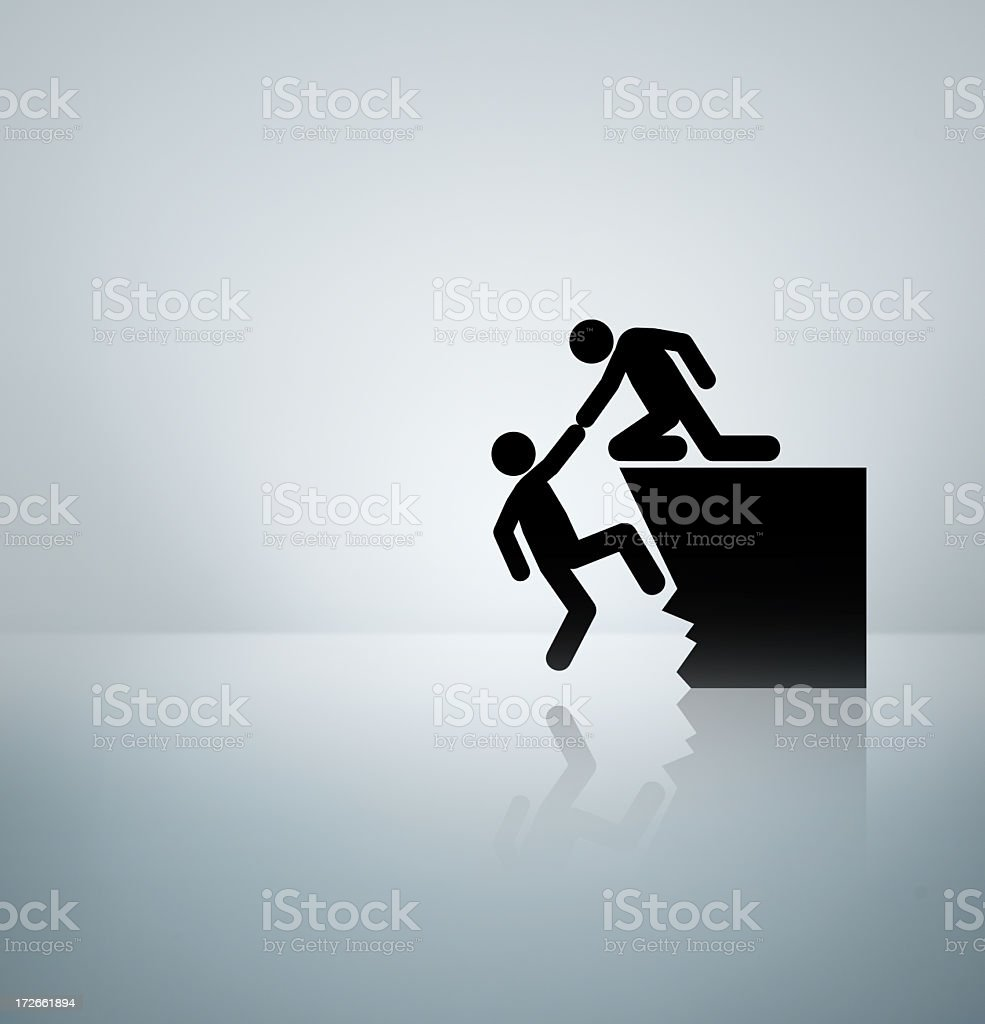 Helping hand royalty-free stock photo