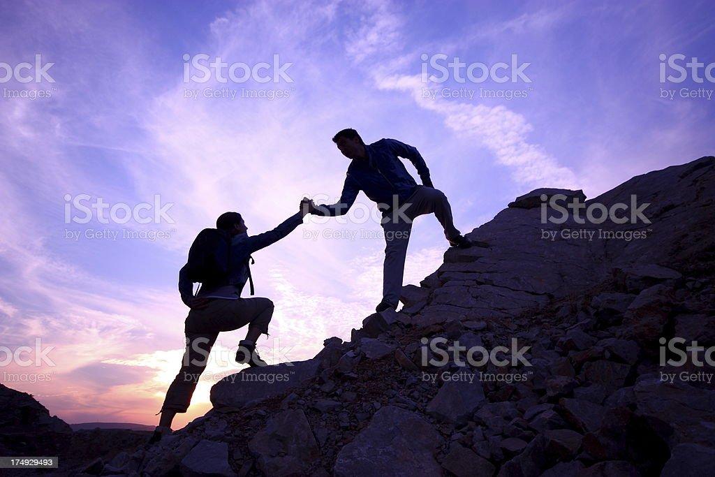 Helping hand stock photo