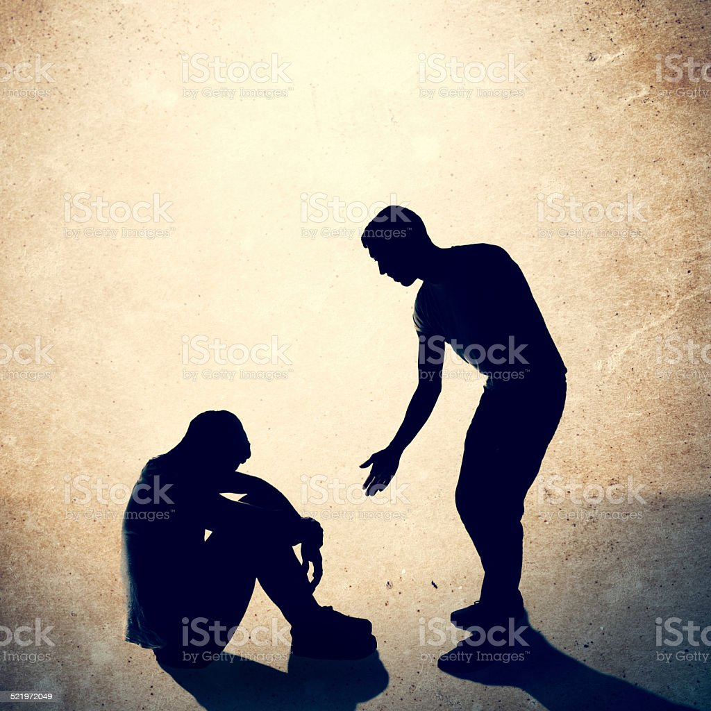 Helping Hand to Man in Need stock photo