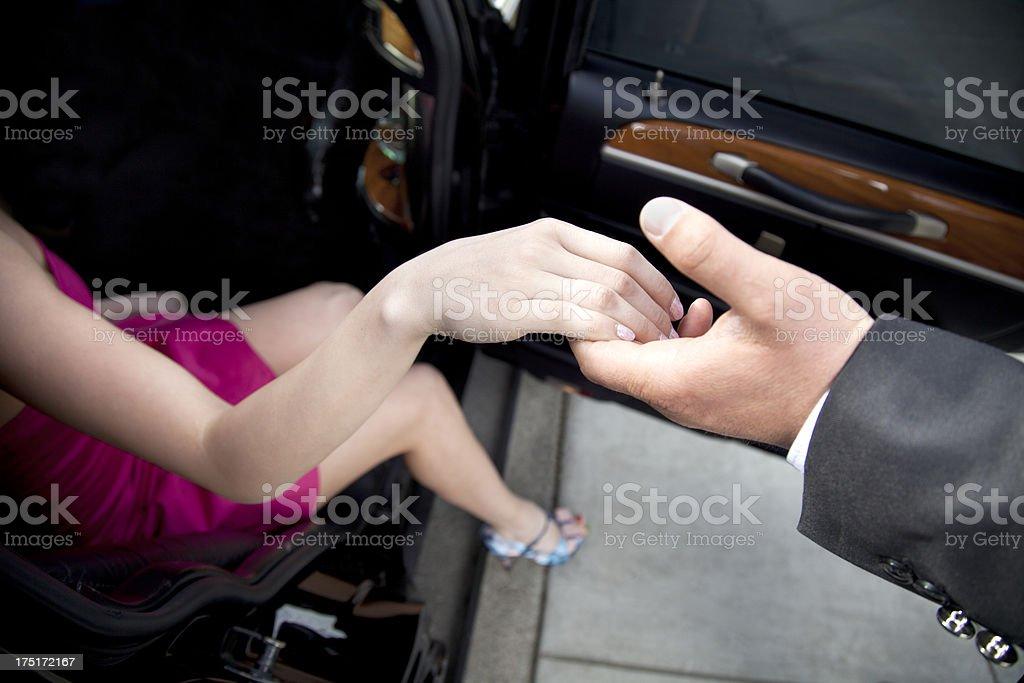 Helping Hand-Limosine stock photo