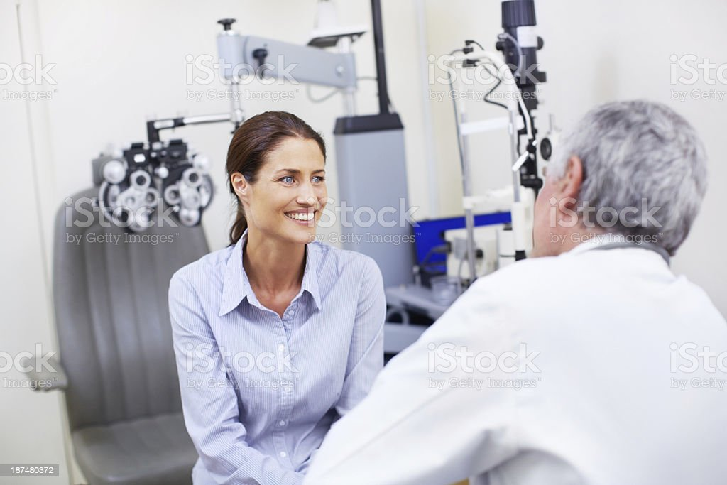 Helping her feel at ease stock photo
