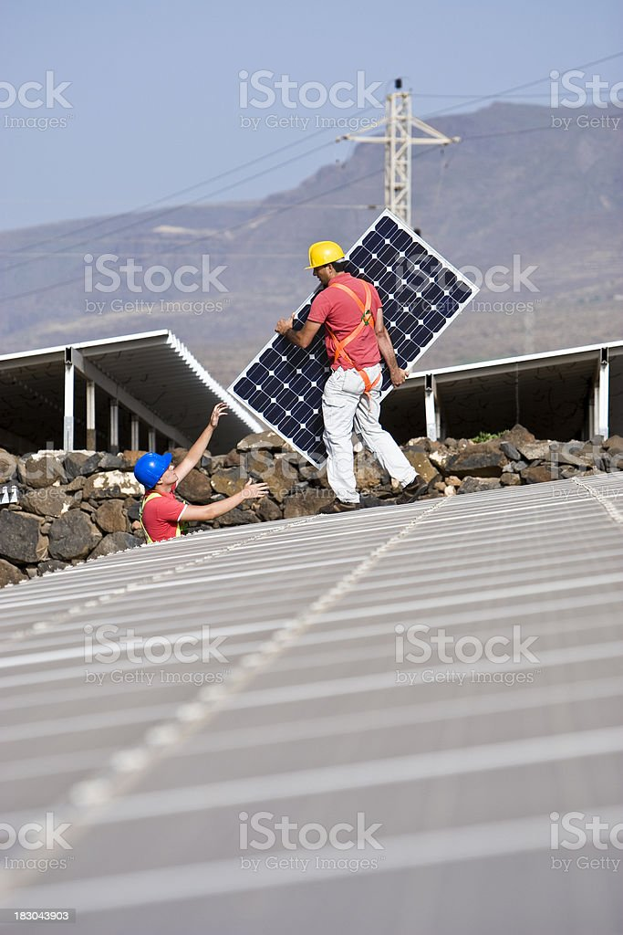 Helping Out royalty-free stock photo