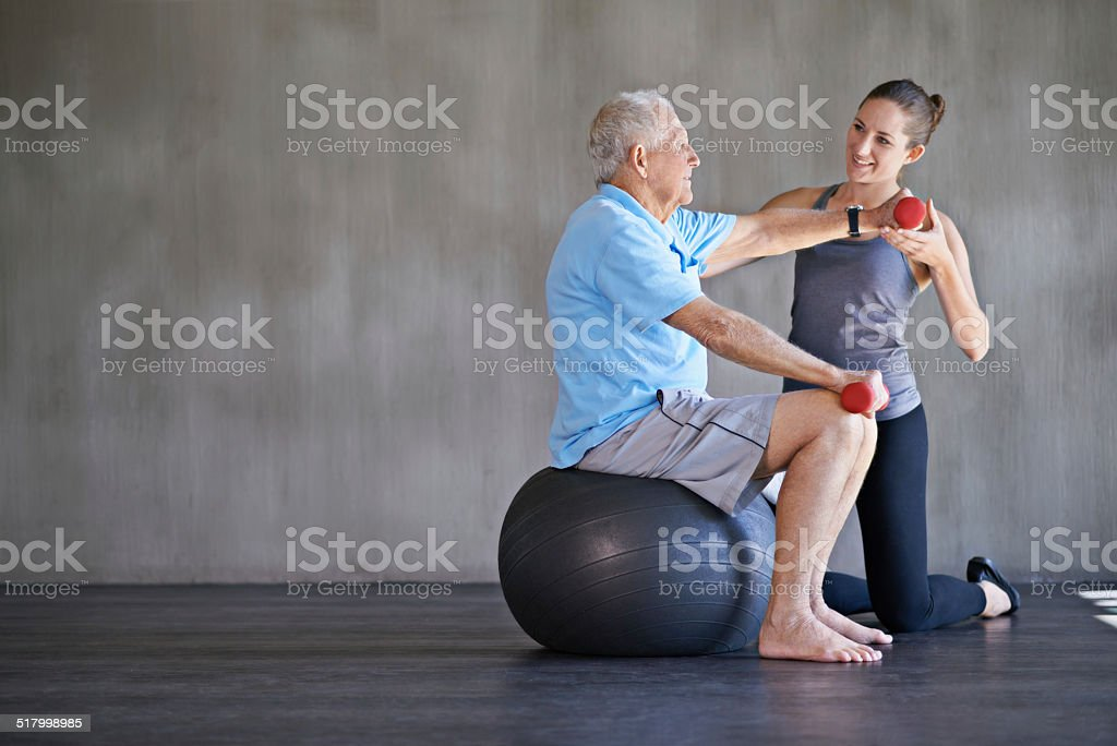 Helping patients stay strong and healthy stock photo