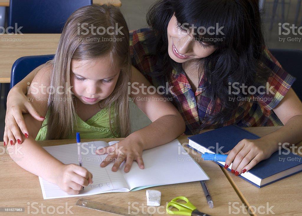 Helping Teacher stock photo