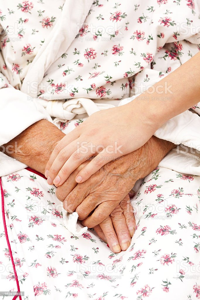 helping the elder ones royalty-free stock photo