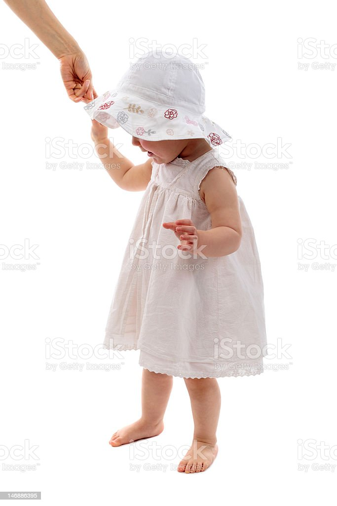 helping the  first steps stock photo
