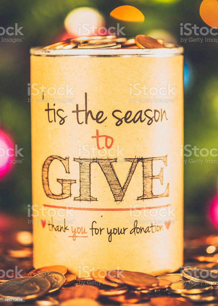 Helping The Less Fortunate at Christmas time stock photo