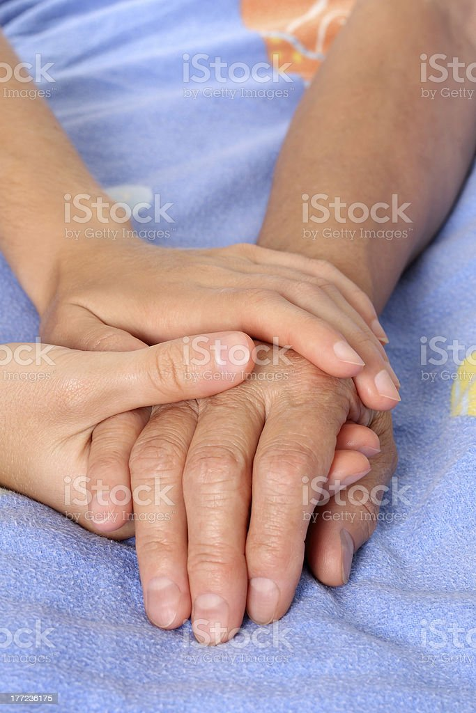 Helping the senior patient royalty-free stock photo