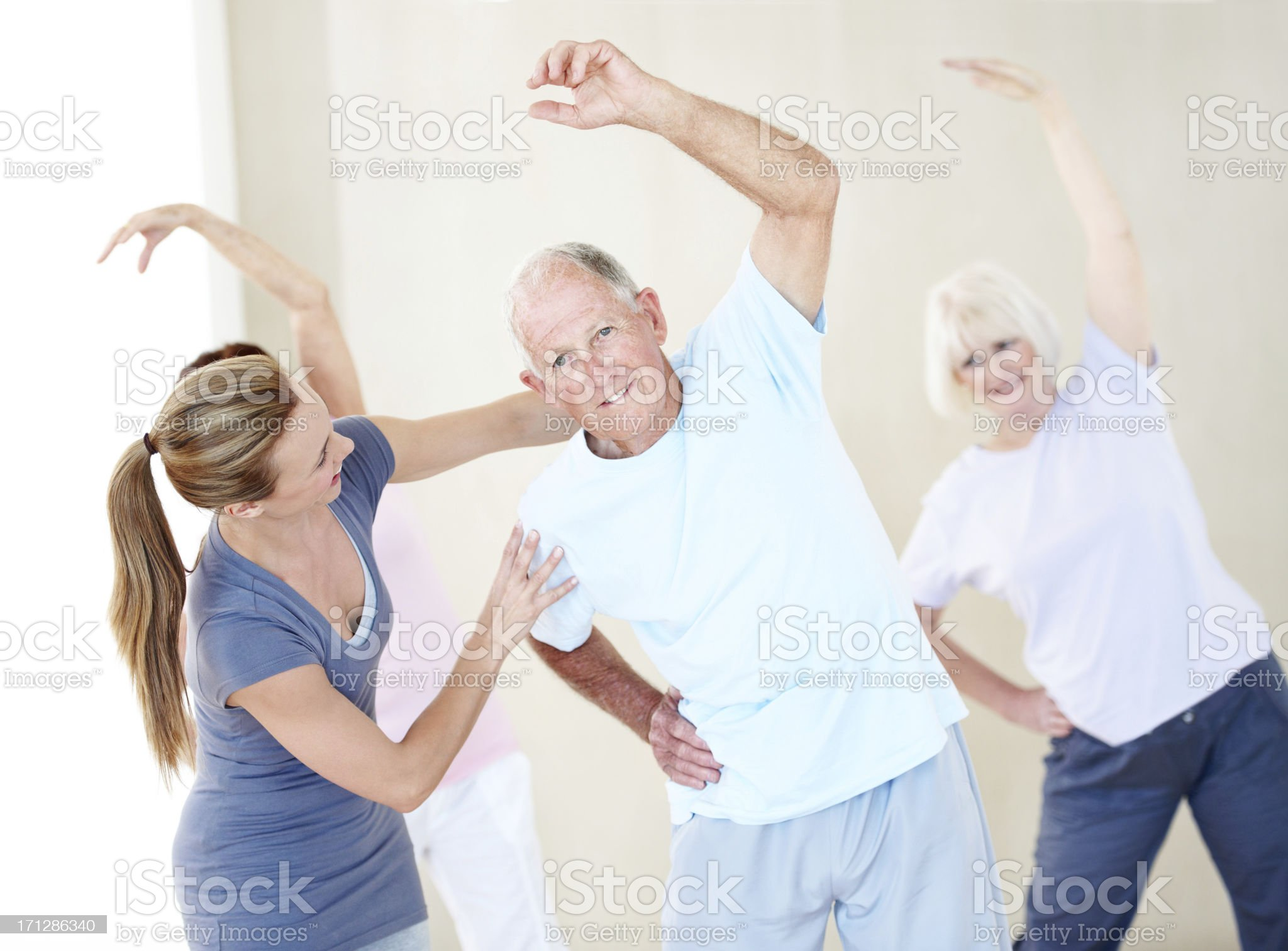 Helping them strengthen their bodies and minds royalty-free stock photo