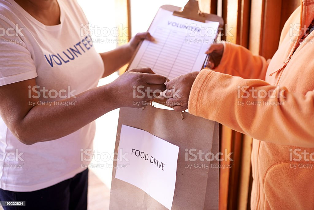 Helping those who are in need stock photo