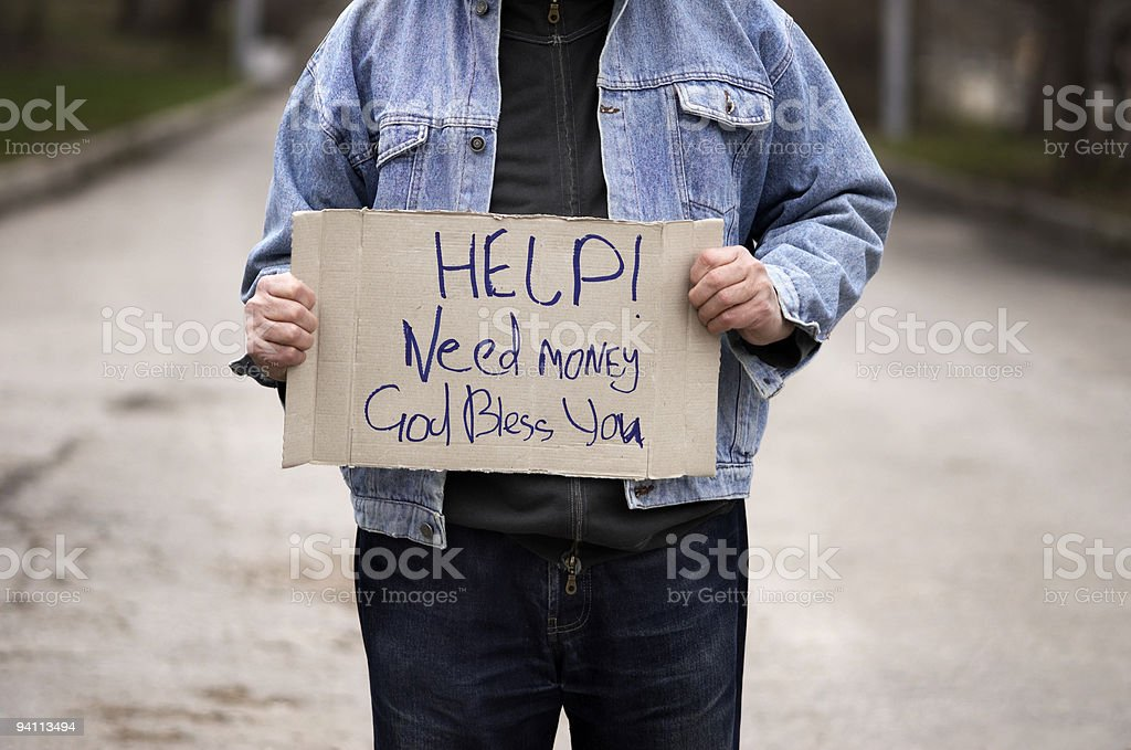 Help!Need money! royalty-free stock photo