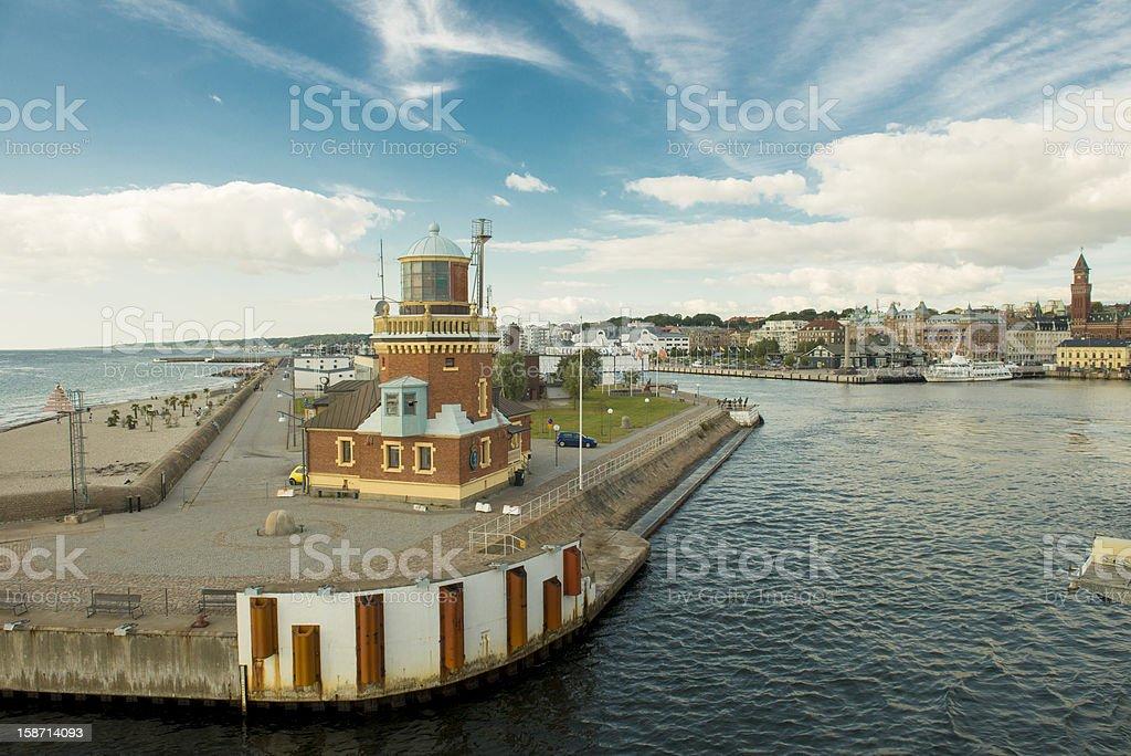 Helsinborg harbor royalty-free stock photo