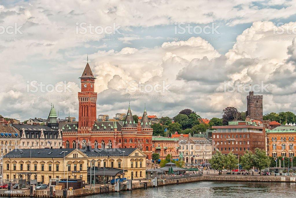 Helsingborg City Center stock photo