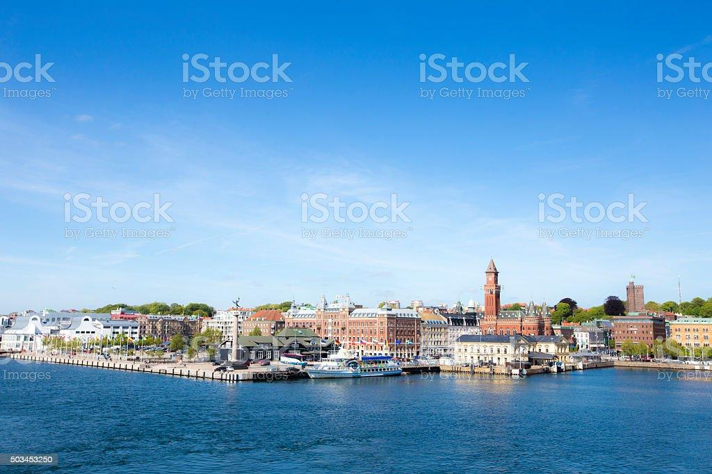 Helsingborg city image stock photo