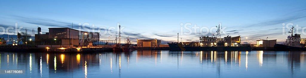 Helsingborg Harbour stock photo