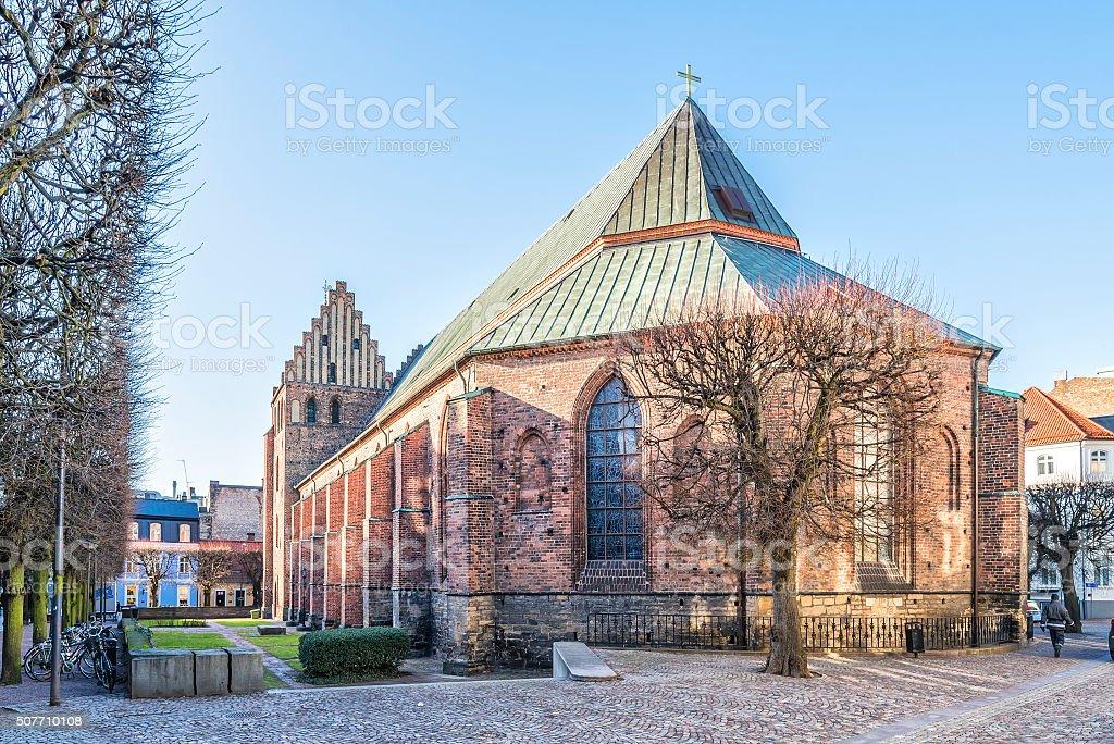 Helsingborg Sankta Maria Church stock photo