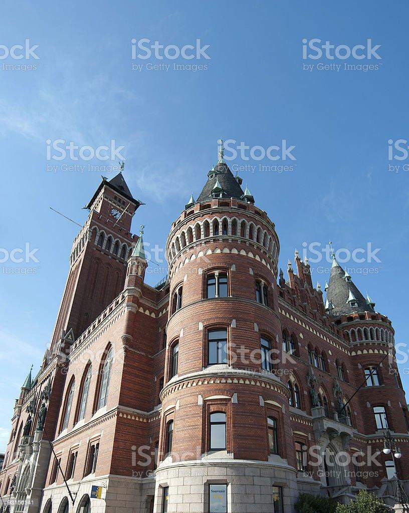 Helsingborg Town Hall stock photo