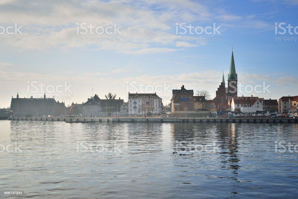 Helsingor in Denmark stock photo
