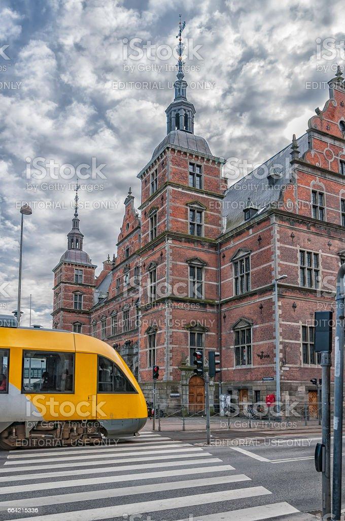 Helsingor Train Station stock photo