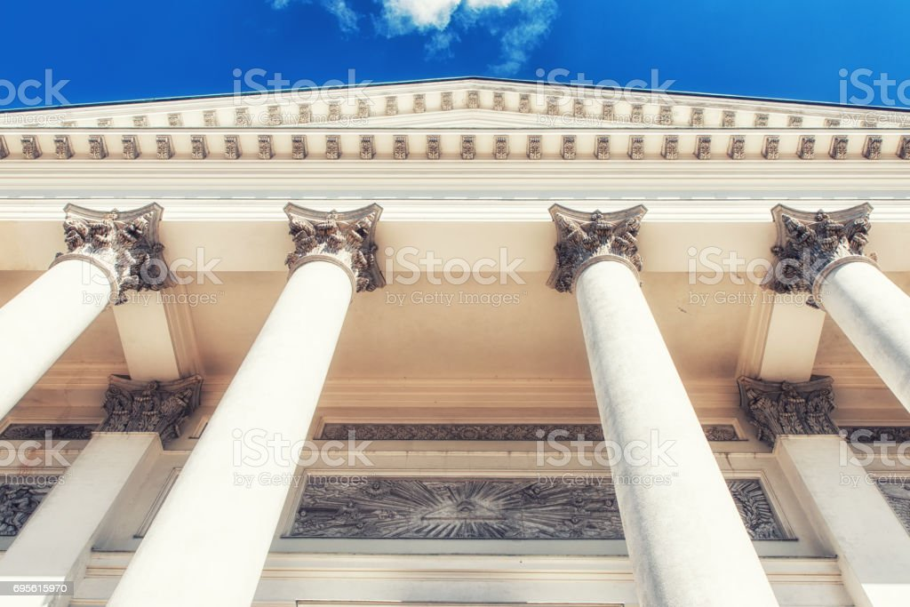 Helsinki Cathedral Details stock photo