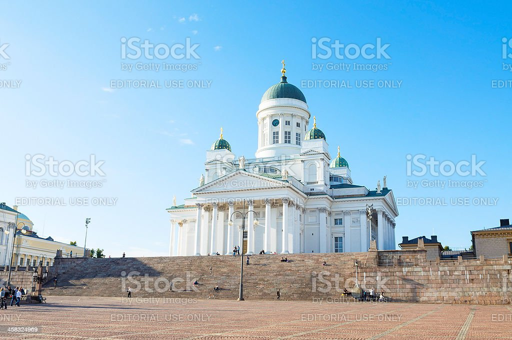 Helsinki Cathedral. Finland stock photo