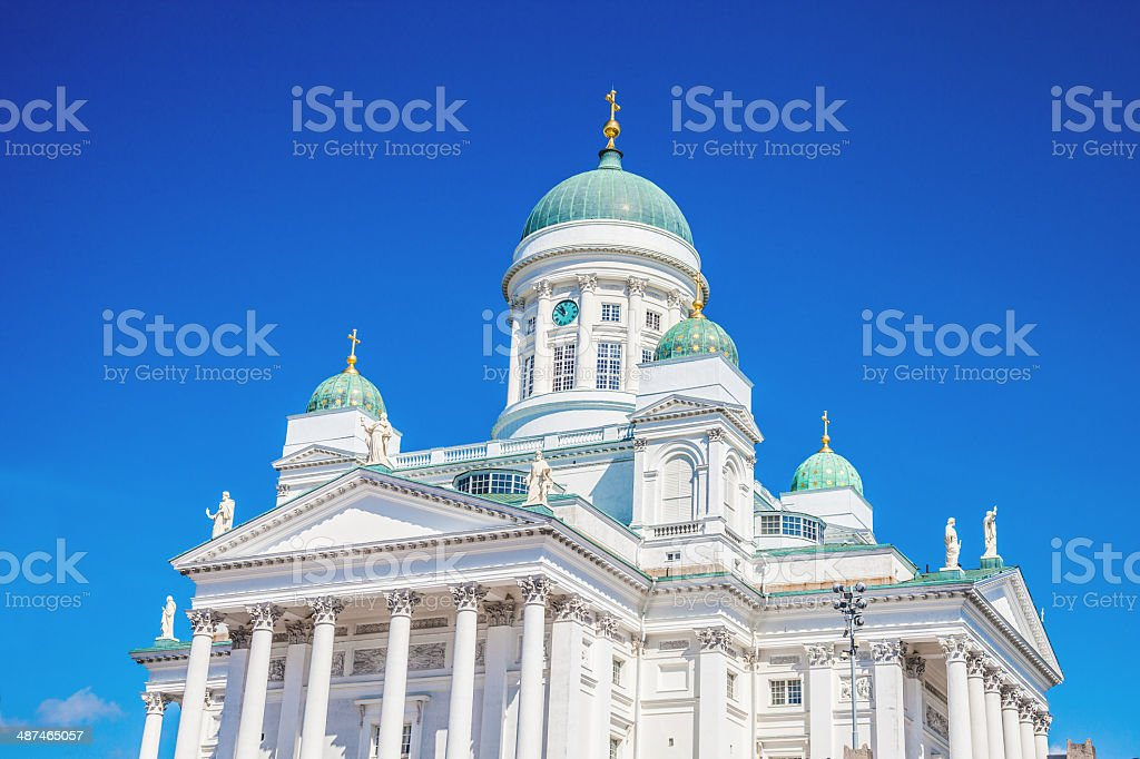 Helsinki Cathedral in city center royalty-free stock photo