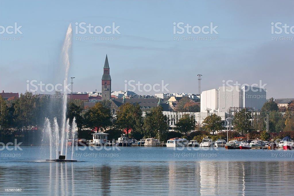 Helsinki cityscape stock photo