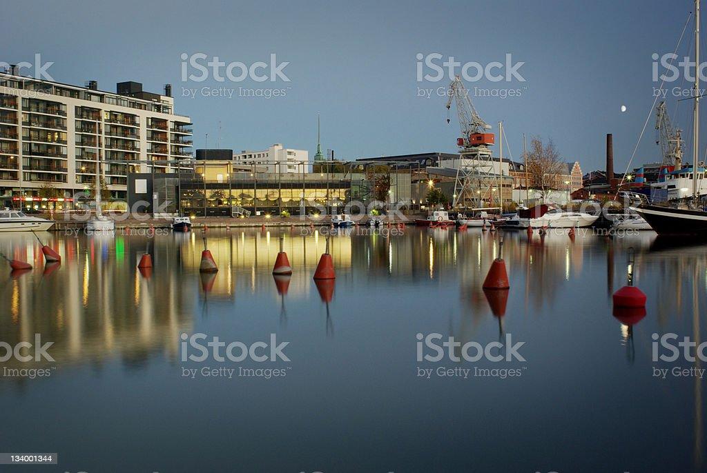 Helsinki Finland Harbor stock photo