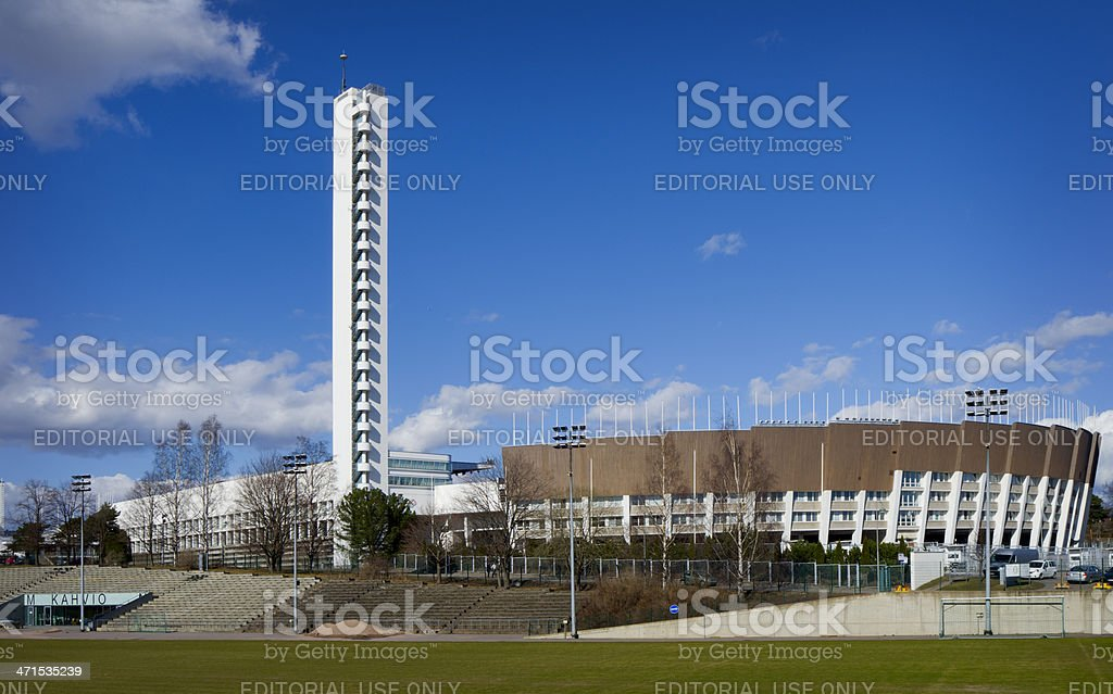 Helsinki Finland Olympic Stadium stock photo