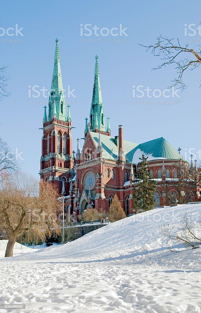 Helsinki. Finland. Saint John Church stock photo