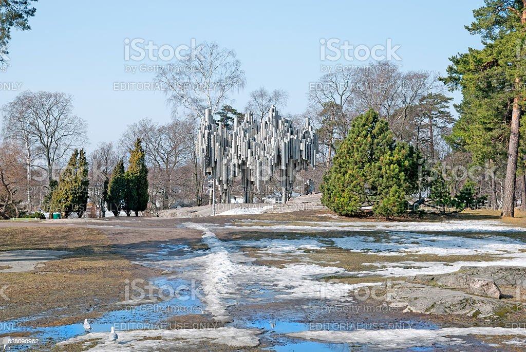 Helsinki. Finland. Sibelius Park and Monument stock photo