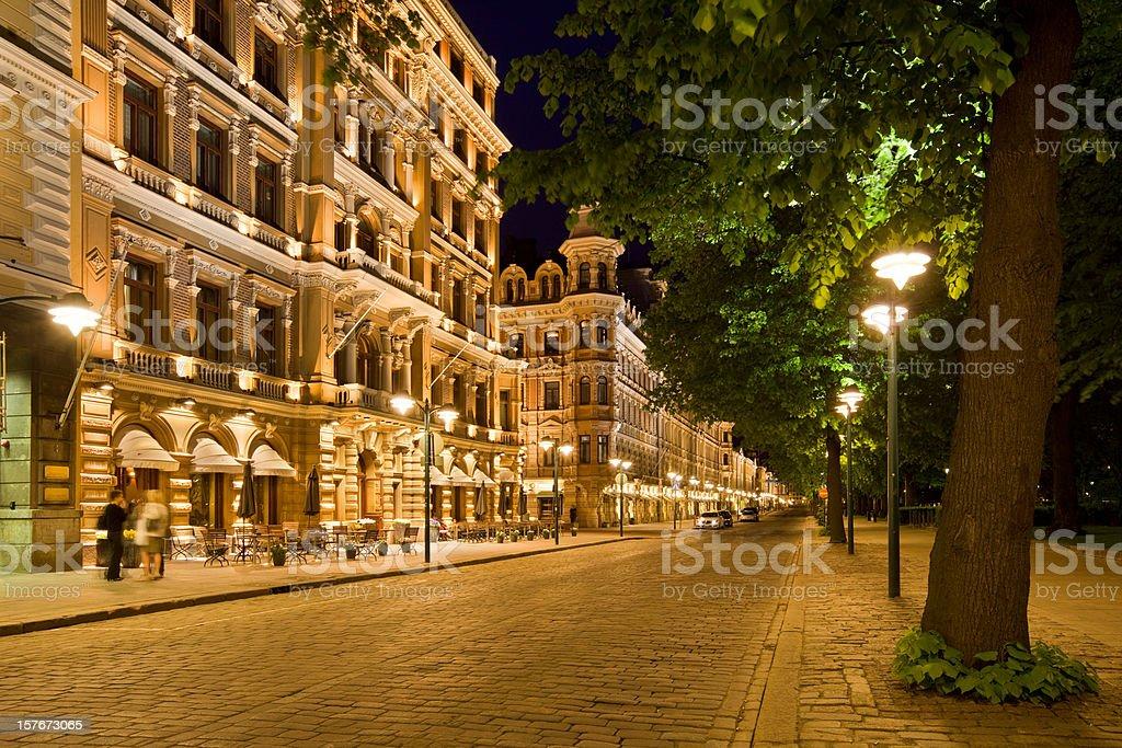 Helsinki, Finland, The Esplanade Boulevard royalty-free stock photo