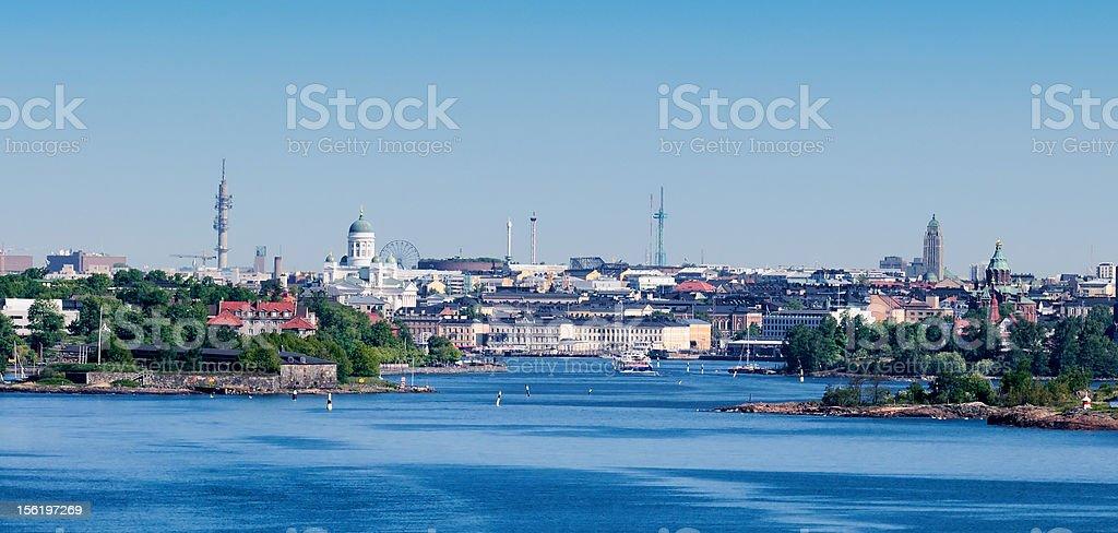 Helsinki harbour coastline royalty-free stock photo