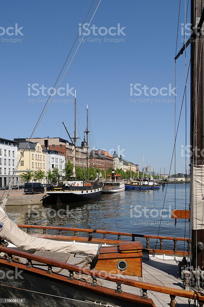 Helsinki Harbour royalty-free stock photo