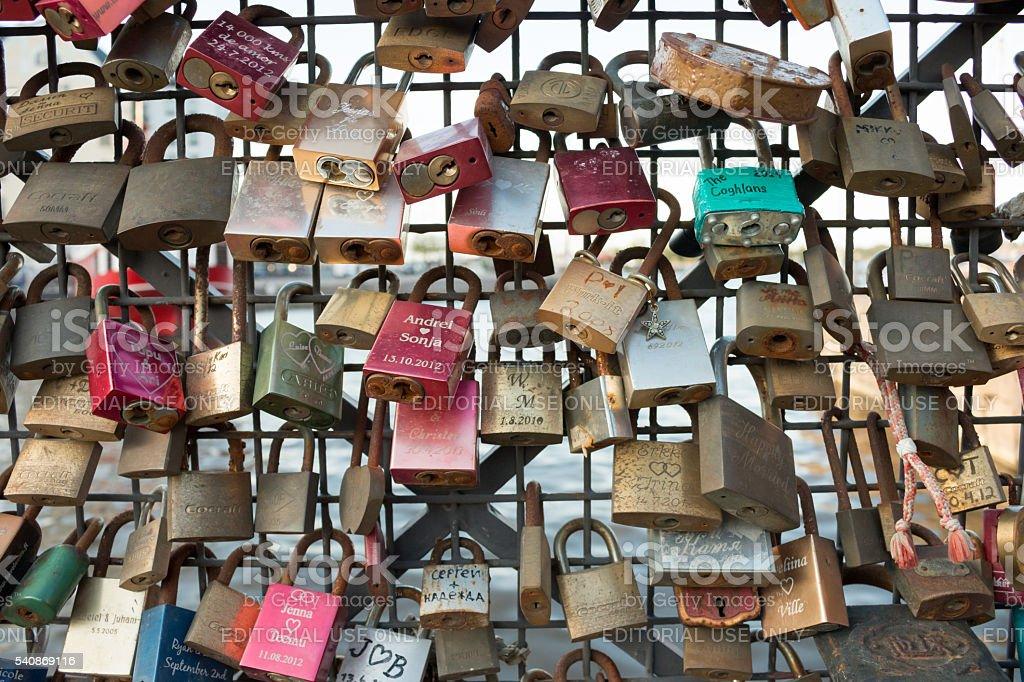 Helsinki Lovelocks stock photo